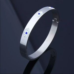 Stainless Steel Evil with Luxury Crystal Bangles